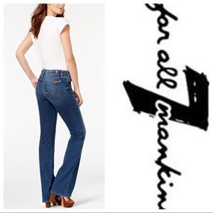 7 For All Mankind Kimmie Bootcut Jeans. Size 28